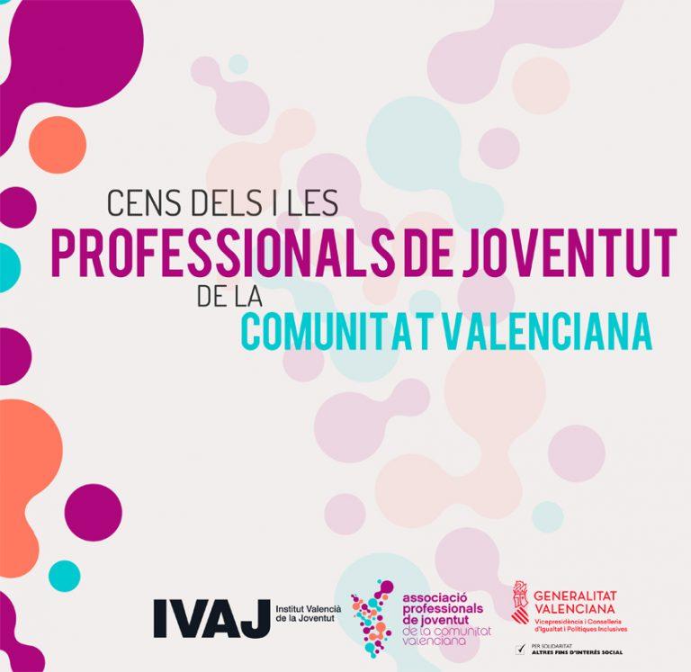 Cens dels i les Professionals de joventut de la Comunitat Valenciana.