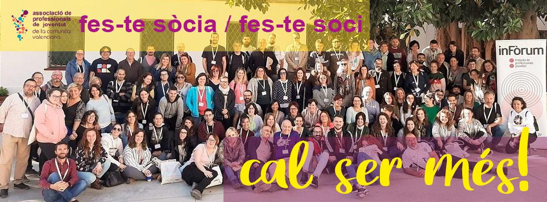 fes-te soci. posat al dia. Associació de Professionals de Joventut de la Comunitat Valenciana (APJCV)